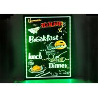 China Customized Neon Light LED Writing Board , Transparent Acrylic Sign Writing Boards on sale