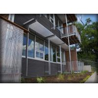 Quality Architectural Sun Shade Louvers With Fabric / PVC / Bamboo / Wood Material for sale