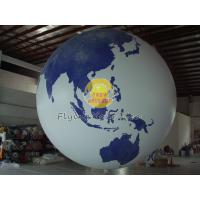 Fireproof Large Earth Balloons Globe for Weather service , Inflatable Ground Balloon Manufactures