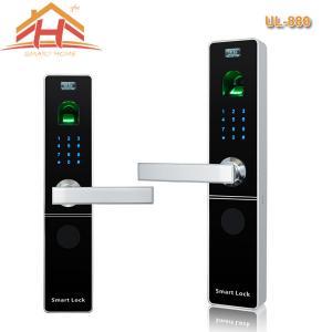 Keypad Biometric Fingerprint Door Lock With Electroplating And Polishing Finish Manufactures