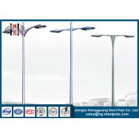 Hot Dip Galvanized Outdoor Street Lamp Post , Low Voltage Lamp Post Manufactures