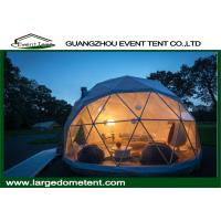 China Prefabricated Clear Top Lightweight Geodesic Tent For Outdoor Living on sale