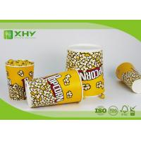 Paper Popcorn Buckets 100% food grade , disposable paper popcorn cup and bucket Manufactures