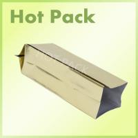 Aluminum Foil Side Gusseted Coffee Packaging Bags With Valve Gold Color