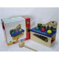 1 Year Old Baby Multifunction Knock Piano Units Preschool Wooden Toys with A Small Mallet Manufactures