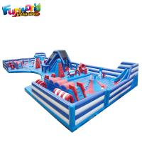 Buy cheap Blue And White Combo Pvc Inflatable Amusement Park Game Inflatable Bouncer from wholesalers