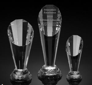 China spotlight crystal award/2d laser engraving crystal trophy/3d laser engraving blank crystal on sale