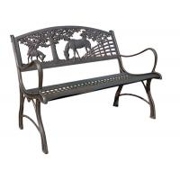 China Painting Ornamental Iron Accessories / Outdoor Furniture Cast Iron Park Bench on sale