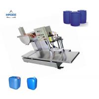 China 220 V Semi Automatic Oil Filling Machine Weighing Type For Paint Epoxy on sale