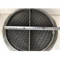 SS 304 / 316 Wire Mesh Demister Pad For Gas Liquid Separation Air Purification for sale