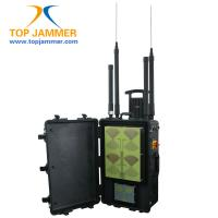 Cell jammer law - Eight Antennas Portable GSM Jammer With 2 Hours Working Time , Customized Signals