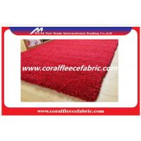 China Custom Polyester Long Pile Shaggy Carpet Red Purple White for Car or Commercial Use on sale