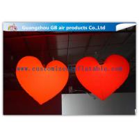 China Loving Heart Shape Inflatable Lighting Decoration With 16 Colors LED Light For Wedding wholesale