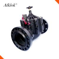 800Kpa Irrigation Solenoid Valve 3 Inch AC220 AC110V AC24V With Flange Connector Manufactures
