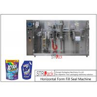 Laundry Detergent Liquid Pouch Packing Machine With Servo Piston Filling Machine Manufactures
