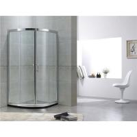 Customized Double Sliding Curved Shower Partition With Bright Silver Finished Aluminum Profiles Manufactures