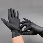 2019 competitive price Black Powder Free Nitrile Gloves Texfured finger for medical use 3.0g/3.5g/4.0g/4.5g/5.0g Manufactures