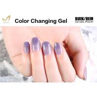 Unharmful Ingredients Colour Changing Gel Nail Varnish , UV Led Gel Polish No Odor Manufactures