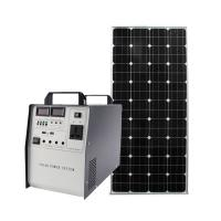 off grid complete 500W home Solar Power system generator AC 220V/ DC 12V output USB fast charging used for TV Fan Manufactures