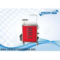Buy cheap Hospital Medical Crash Cart With Stainless Steel Structure / Five Drawers from wholesalers