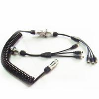 Curly 7 Pin Trailer Cable Spiral Power Cable For Camera Kits Manufactures