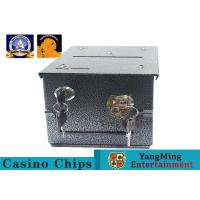 Fireproof Official Casino Poker Chip Lockable Cash Box Set With Gaming Poker Table Manufactures