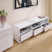 Melamine Covered Solid Wood TV Stands For Flat Screens Low Formaldehyde Emission Manufactures