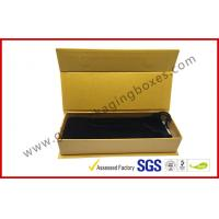 ROSH Empty Jewelry Gift Boxes Golden Color With Velvet Bag , Hot Stamp Finishing Manufactures