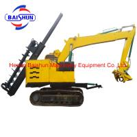 High technology auger crane pile friver for power pole erection Manufactures