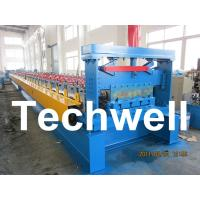 0.8 - 1.5mm Steel Metal Floor Decking Sheet Roll Forming Machine For Roof Floor Deck Manufactures