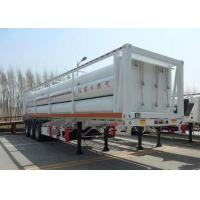 High Pressure CNG Gas Cylinder , Seamless Cng Storage Tanks Semi - Trailer Manufactures