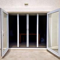 Large size No mosquito DIY Retractable mosquito plisse fly screen door Manufactures