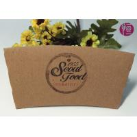 16oz Kraft Paper Coffee Cup Sleeve With Double Wall / Heat Insulated Manufactures