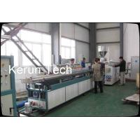 Double Screw Plastic Profile Extrusion Line Profile Width 180mm - 300mm Manufactures
