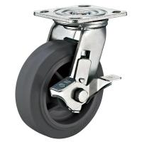 """Buy cheap 5"""" x 2"""" Thermoplastic Rubber Wheel Heavy Duty Caster With Locks for Trolley from wholesalers"""