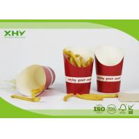 China Red Color Printed 9oz French Fries Chip Paper Cups with FDA Certificated on sale