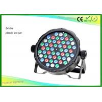 China Light Weight 54 X 1w RGBW Dmx LED Par Light With Plastic House CE / RHOS wholesale
