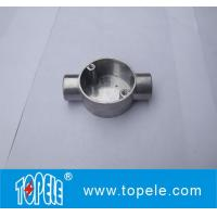 TOPELE 20mm / 25mm BS4568 / BS31 Electrical Two Way Circular Angle Aluminum Junction Box, Electrical Conduit Fittings Manufactures