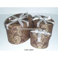 China Wedding gift box with butterfly dot vintage Jaquard fabric Round box Luxury packing on sale
