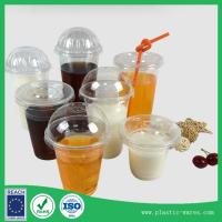 Quality clear plastic cups with lids PP drinking cup 500 ml supplier in clear color for sale