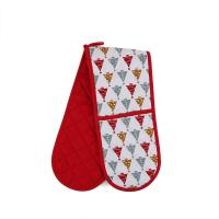 Custom Long Cotton Microwave Oven Mitts Christmas Theme For Hand Protection Manufactures