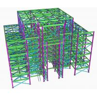 Painting Treatment High Rise Building Steel Frame For Shopping Mall , Residential Manufactures
