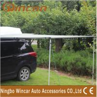280G Canvas Green / Sand Rolling Up Car Awning Tent , OEM / ODM Manufactures
