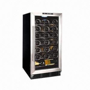 32-bottle Capacity Wine Cooler/Chiller, R134a Refrigerant, 88L/3.11ft³, CE/ETL/UL/RoHS Manufactures