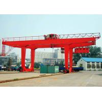 50 Ton Container Double Beam Gantry Crane With Spreader Overload Protection Manufactures
