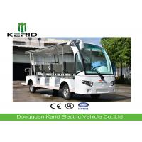 Street Legal 11 Person Mini Electric Sightseeing Bus With Artificial Leather Seats Manufactures