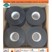 Black / White Waterproof Pipe Tape , Gas Pipe Tape With Polyethylene Backing Manufactures