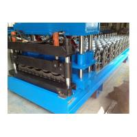 0.3-0.8mm PPGI Galazed Tile Roof Panel Roll Forming Machine Cut to length Hudraulic cutting Manufactures