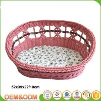 Wicker pet basket willow dog house wicker cat bed M size with mat Manufactures