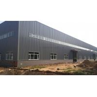 Quality ASTM A36 Steel Structure Workshop With Overhead Crane Rock Wool Large Span for sale